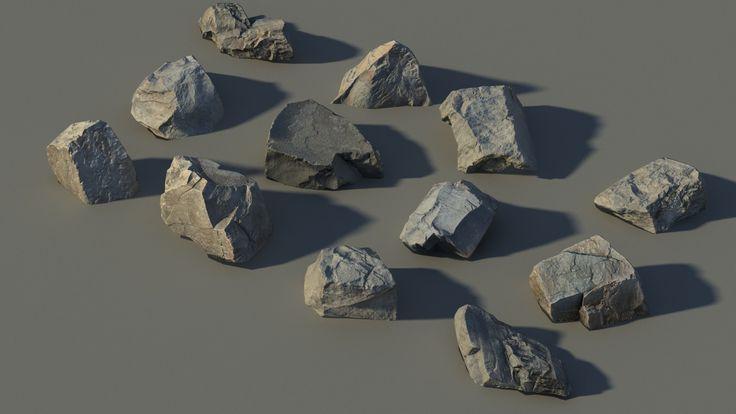 rady boulders rocks scan 3d model
