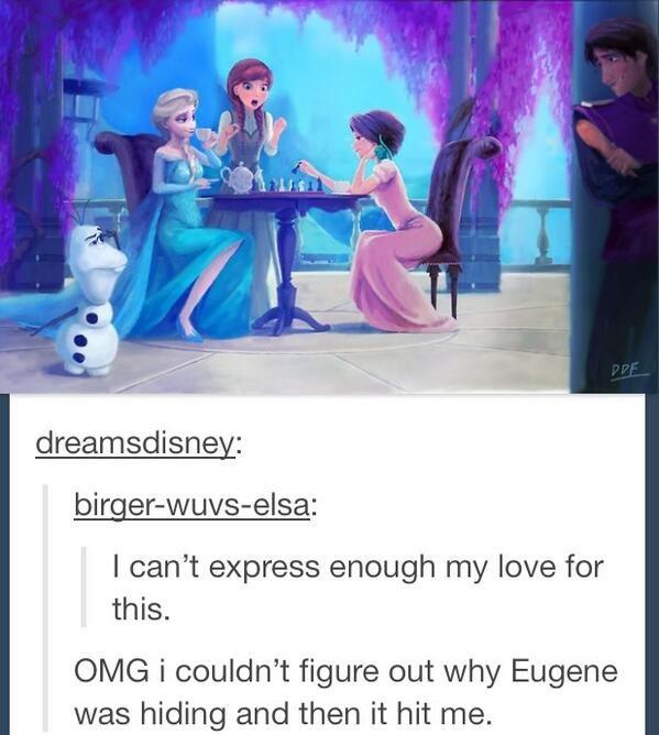 Hahaha Tangled and Frozen.