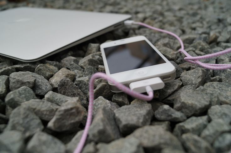 Kable USB w tekstylnym oplocie. Kolorowe. iPhone