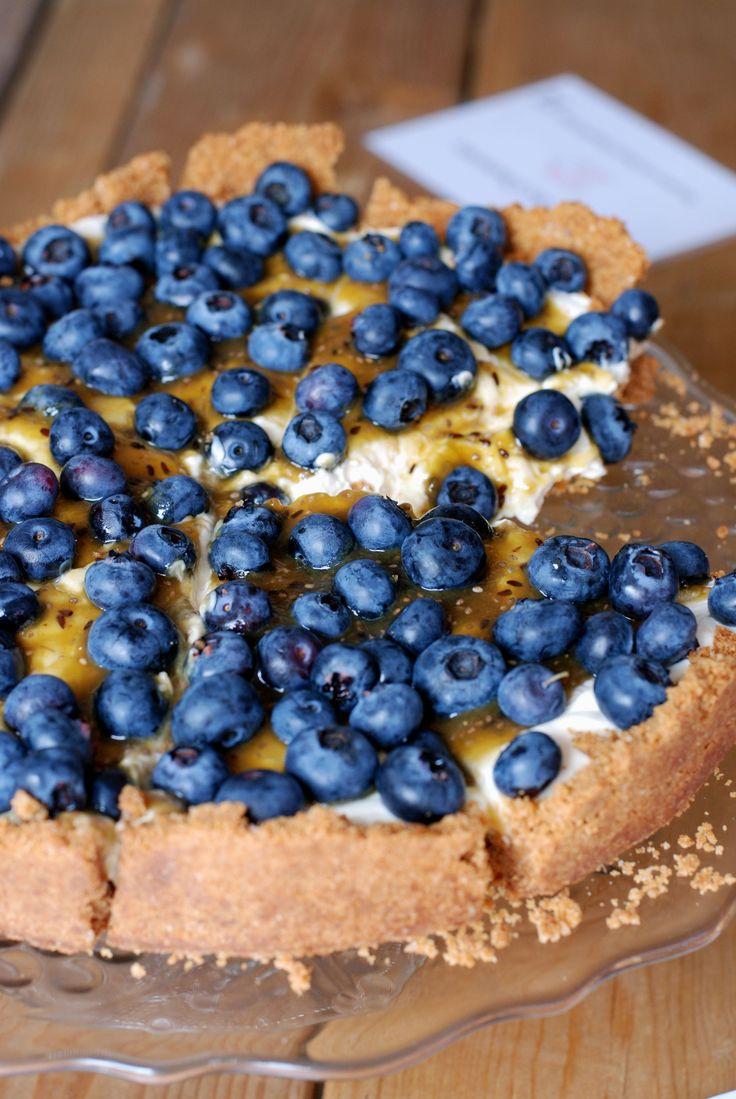 Marieke Snijders deed mee met de taartenbakwedstrijd Festival Zoet 2014. Haar recept blueberry special cheesecake komt uit Amerika