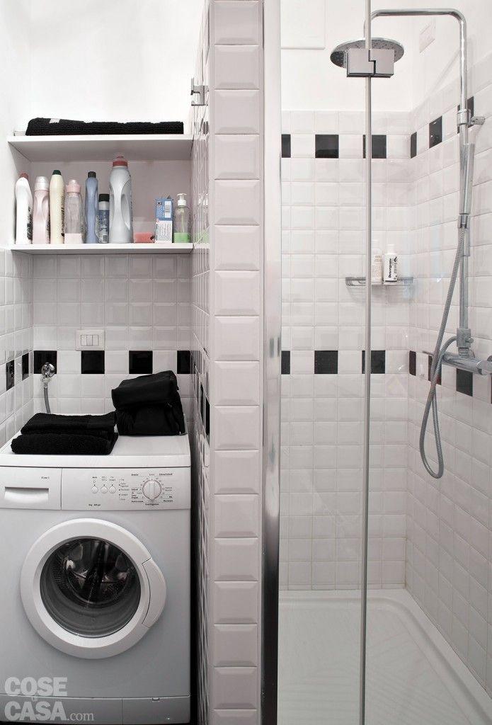 il bagno stato ampliato e migliorato nella fruibilit grazie alla disposizione allineata di lavabo