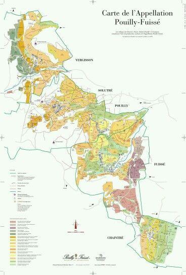 Pouilly Fussey region map