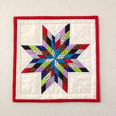 Lone Star Mini Quilt - 8'' square!