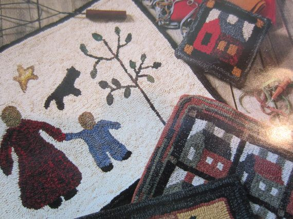 RUG HOOKING PATTERN New Uncut Little Quilts Pattern For Primitive Hooked Rugs