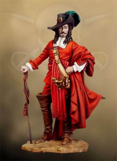 Francois L´Olonnais, 1660 PC-10 54 mm 1/32 | Pirates Of ...