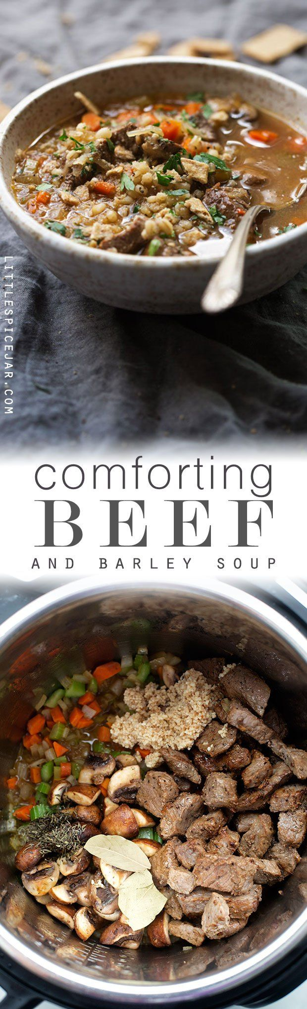 Instant Pot (Pressure Cooker) Beef Barley Soup - A simple, healthy, and…