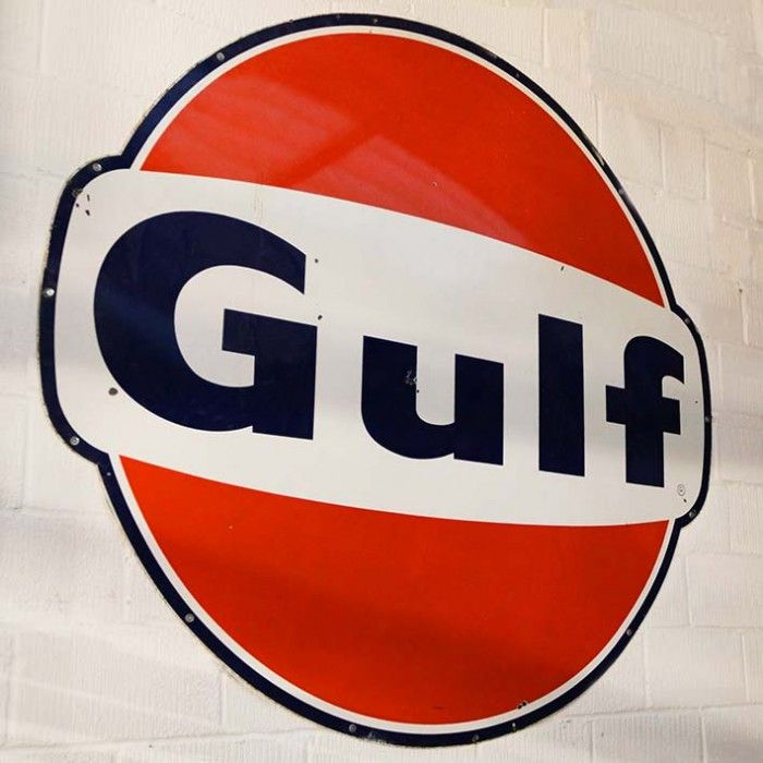 Gulf Oil Vintage metal sign | The Games Room Company