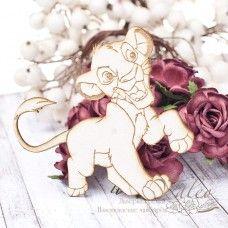 Чипборд Маленький лев 84*82мм vl1783
