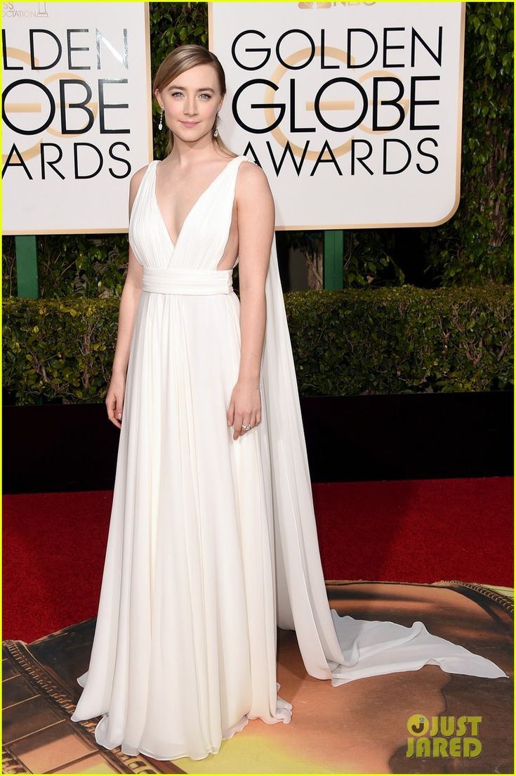 Saoirse Ronan Turns Heads At Golden Globes 2016: Photo #3548498. Saoirse Ronan owns the red carpet in a stunning white gown at the 2016 Golden Globe Awards held at the Beverly Hilton Hotel on Sunday (January 10) in Beverly Hills,…
