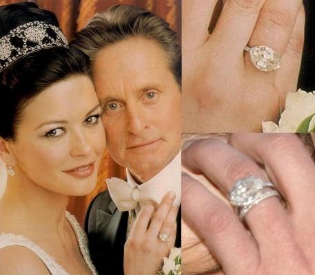 Catherine Zeta Jones and Michael Douglas - Most Famous Engagement Rings
