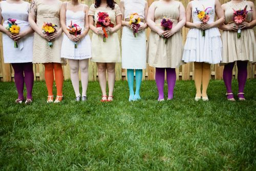 @Lacey Reynolds wedding with pretty tights. SO YOU