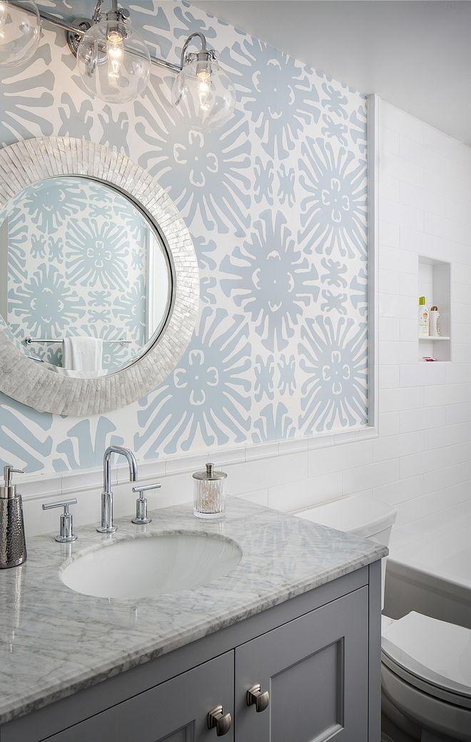 Bathroom Wallpaper Best Wallpaper To Be Used In Bathrooms Bathroom Wallpaper Ideas Bathoomwallpape Bathroom Interior Design Bathroom Styling Eclectic Bathroom