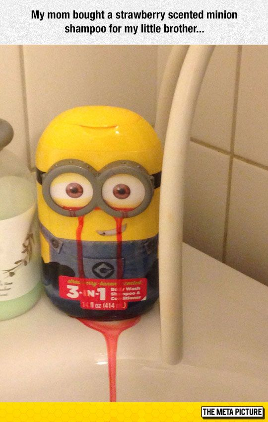 Difficult Times For Being A Minion - - - and no one is talking about the bleeding from the eyes?