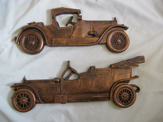 Vintage Coppercraft Antique Cars Wall
