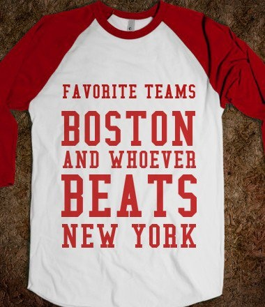 If it was switched around that'd be cooler! Im a new Englander but I love my Yankees!
