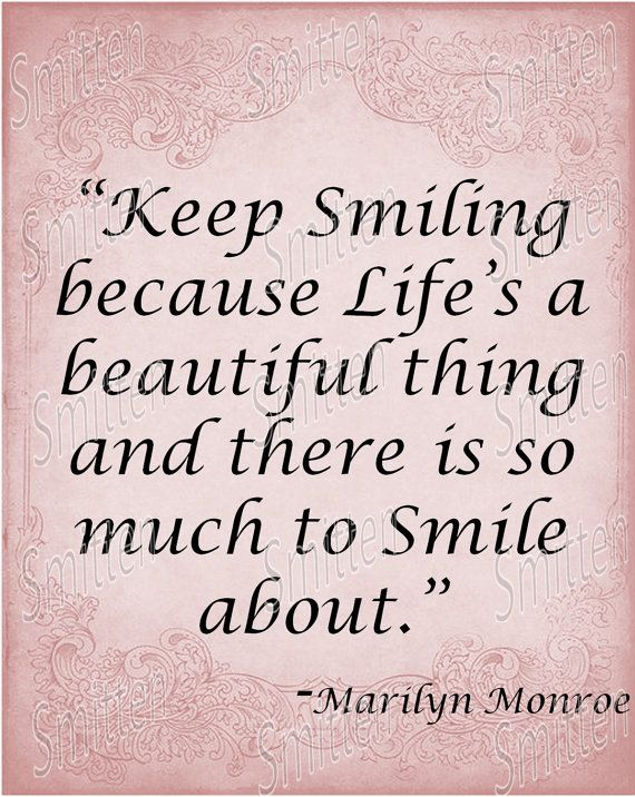 Quotes About Smiles Marilyn Monroe ...