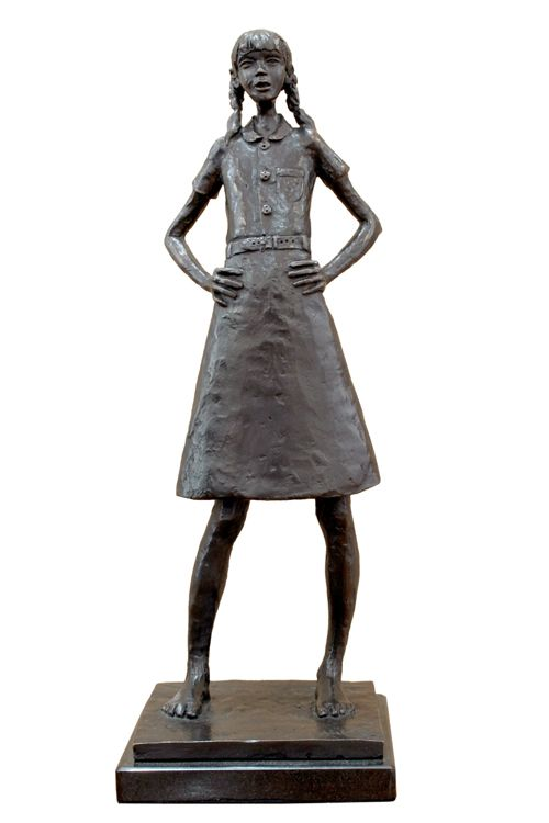 'Schoolgirl' Bronze Sculpture by South African artist: Grace da Costa. www.gracedacosta.co.za