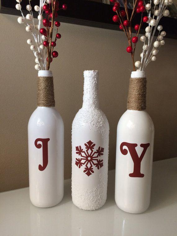 Decorative Wine Bottles Diy 408 Best Christmas Images On Pinterest  Christmas Crafts