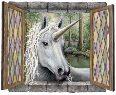 #unicorn wall sticker http://wallartkids.com/unicorn-themed-bedroom-ideas