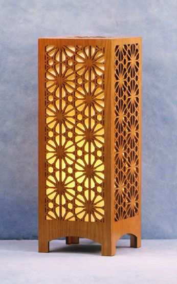 Decorative Laser Cut Wood Accent Lamp This Pattern Is