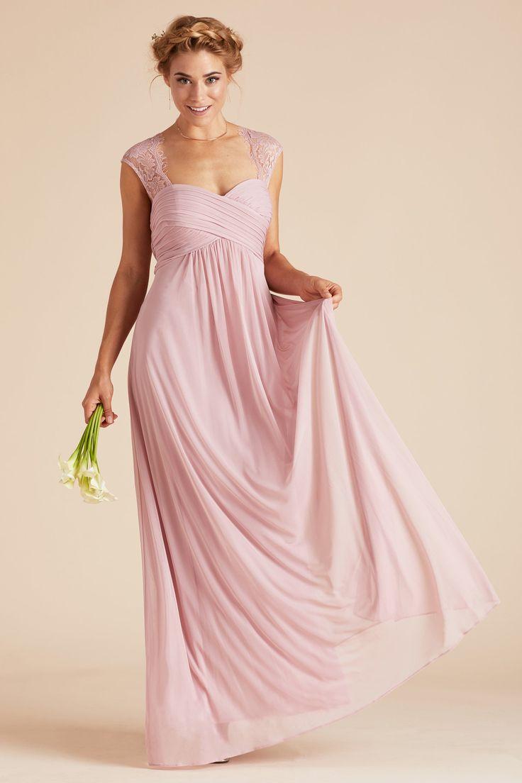 Lujo Rubor Vestidos Largos De Dama De Honor De Color Rosa ...