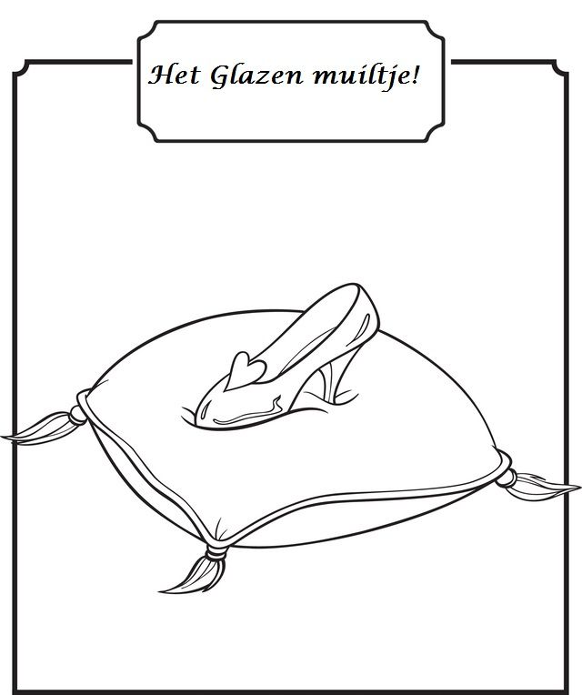 cinderella glass slipper coloring pages Cartoon Cinderella Slipper  Cinderella Slipper Coloring Page