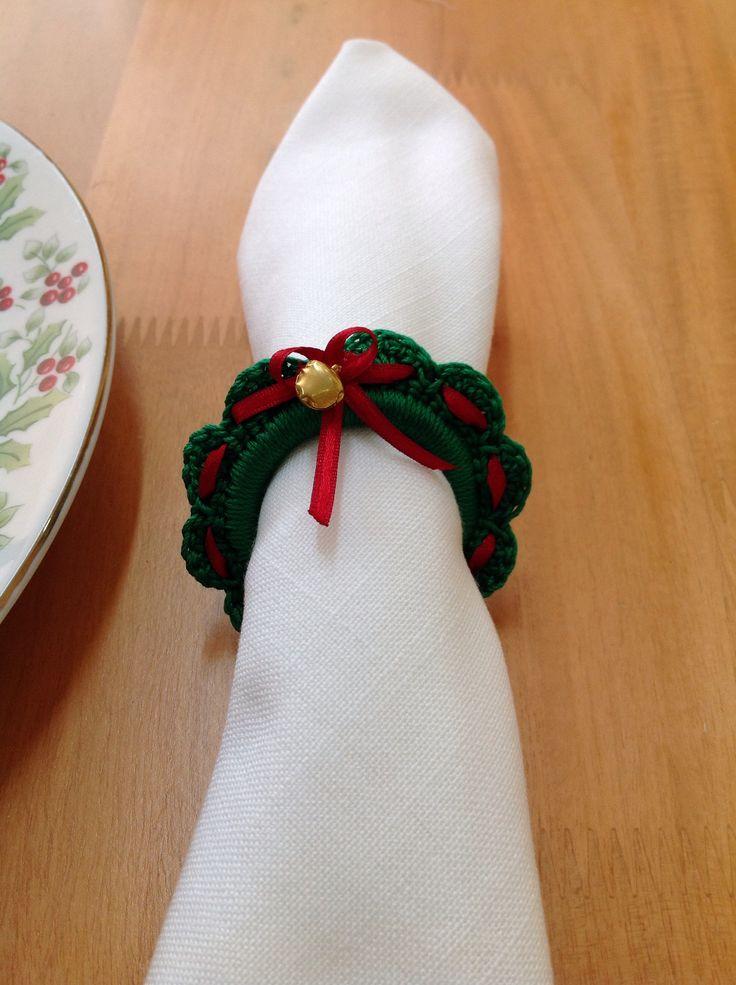 Servilletero en crochet, lindo detalle para regalar en navidad!