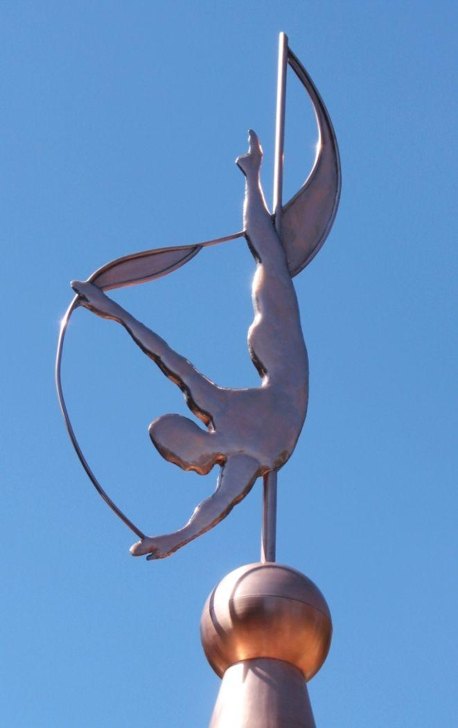 diver sculpture by west coast - Weather Vanes