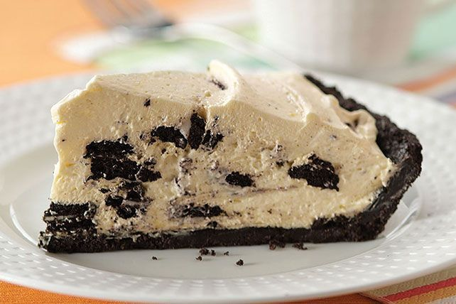 Ready to pop in the fridge in just 15 minutes, this OREO Cream Pie gets its creaminess from vanilla pudding, milk and whipped topping.