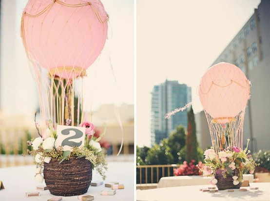 Hot Air Balloon themed engagement party shoot