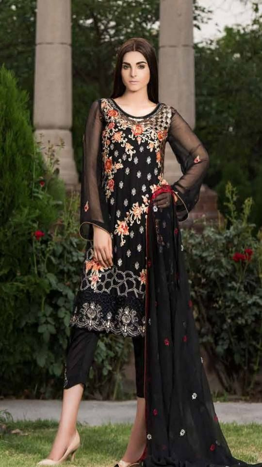 #Womens #Fashion #Pakistani #Designer #Suits #Haute #Couture for #work - #Block #Shirt #Block #Bottom #Embroidered #lawn #suits