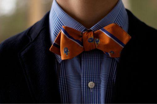 navy blue and orange