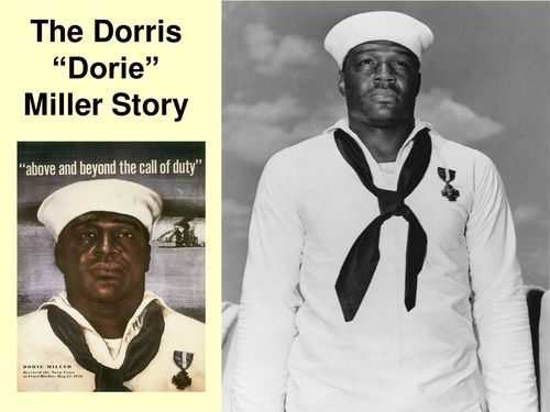 The Doris (Dorie) Miller Story and Quiz is an excellent activity and game to further improve students work and knowledge. Students will learn about an American hero of World War II at Pearl Harbor.