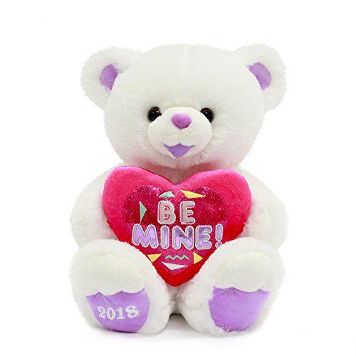 "Valentines Day Gift Plush Teddy Bear 2018 White ""BE MINE"" - Big Sale Online Shopping USA"