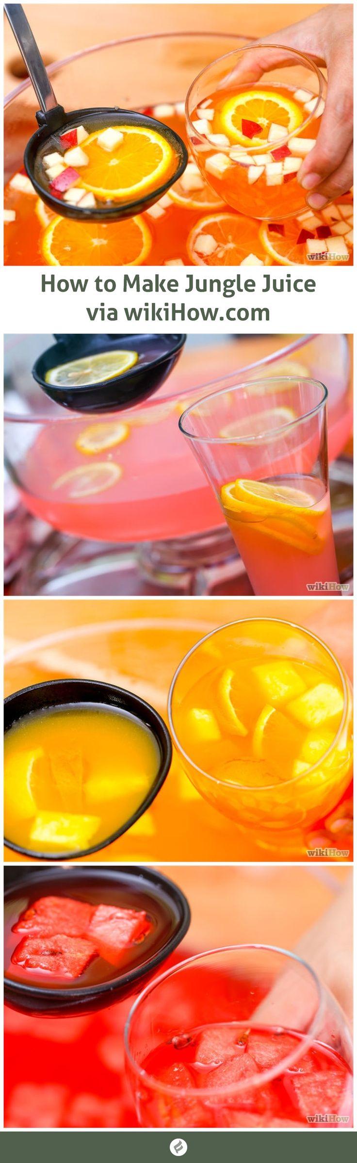 How to Make Jungle Juice via wikiHow.com