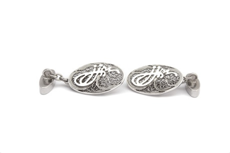 EXCEPTIO personalized cufflinks, bespoke, Men's style, Accesories, Silver cufflinks