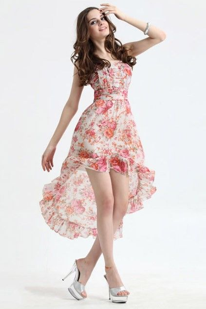Floral Print Fishtail Dress