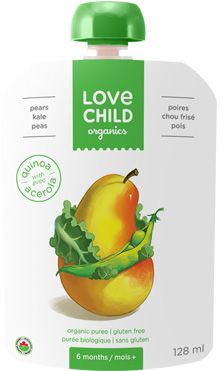 Love Child Organic Baby Food Purees focus on the addition of superfoods with no artificial preservatives, sugars, sodium or fillers. Yum!