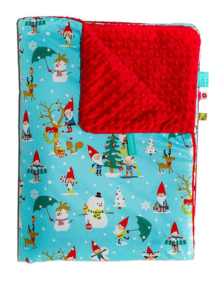 AUTUMN & WINTER BLANKET - DUVET - MERRY CHRISTMAS & CHRISTMAS RED