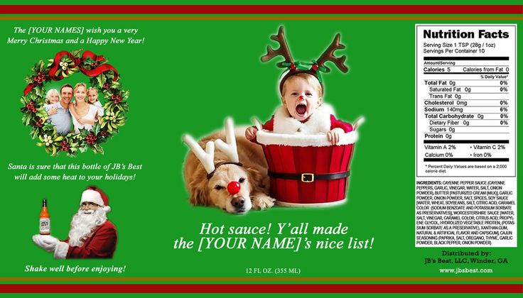 Check out our hottest new Christmas presents! Personalized labels! Three to choose from. Learn more and order at http://www.jbsbest.com/order