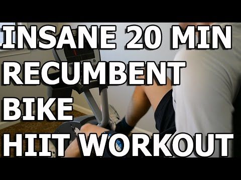 HIIT Workout - Insane 20 minute Recumbent Bike Workout