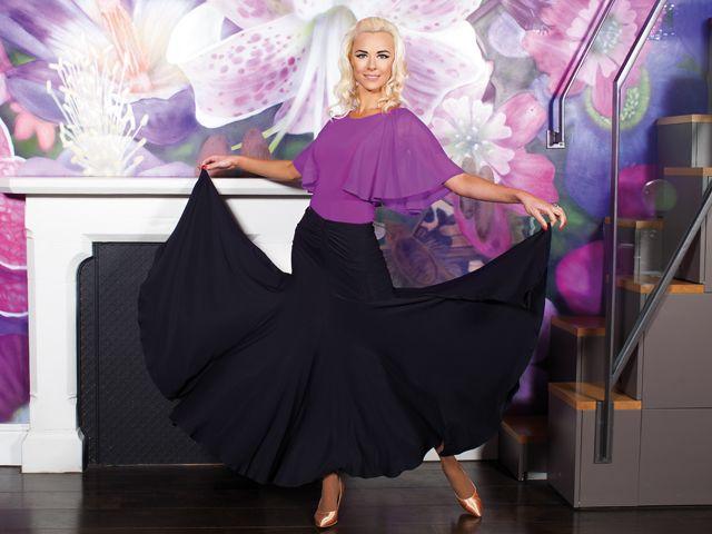 Curved Waist Ballroom Skirt