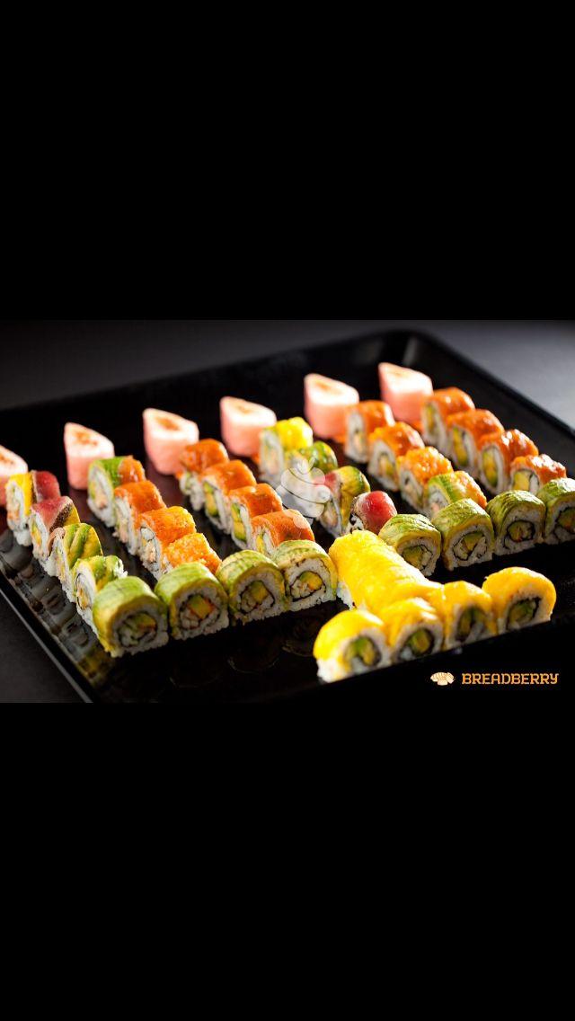 Sushi menorah