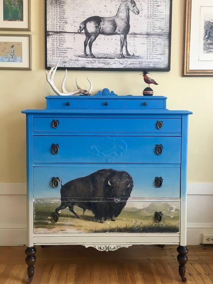 Eye Catching Dresser Created By Annie Sloan Stockist Karen Johnson Of When Modern Was In