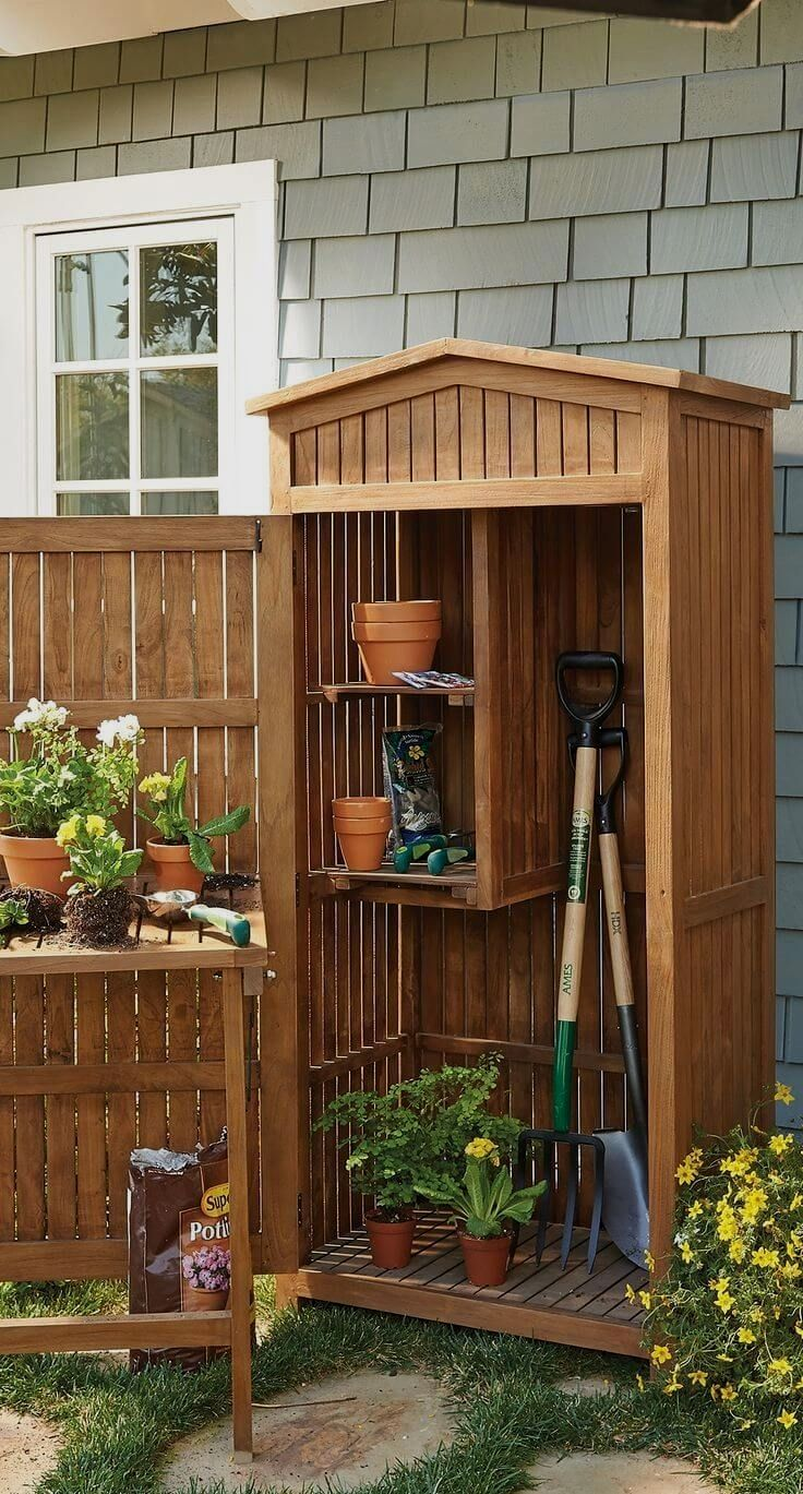 12 Awesome Garden Shed Renovated Ideas For Your Garden Project Simple Outdoor Storage Shed Gardensheds Building A Shed Garden Tool Storage Small Garden Shed Backyard garden tool storage