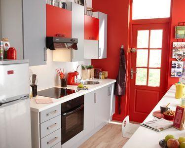 les 25 meilleures id es de la cat gorie cuisine rouge et gris sur pinterest chambres rouge. Black Bedroom Furniture Sets. Home Design Ideas