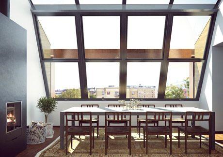 Oscar Properties : Ateljéhuset #oscarproperties windows, kitchen, fireplace
