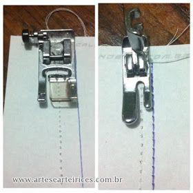 Já ouviu falar de margem de costura e ficou se perguntando o que é exatamente isso?     Cada calcador tem uma medida diferente entre a ag...