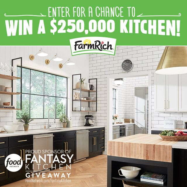 [Insert self here ⬆️] A FANTASTIC kitchen stocked full of #FarmRich could all be yours! One lucky winner of the Food Network #FantasyKitchen 2018 giveaway will receive $250,000 to build a dream kitchen. No, you're not dreaming – a fantasy kitchen could be in your future! Click to enter and for complete details. NO PURCHASE NECESSARY. Ends 4.16.18. #sponsored