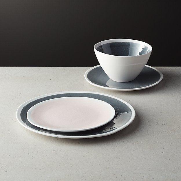 Malmo Slate Grey Dinner Set Stoneware Mugs Plates Bowls Dining Tableware New
